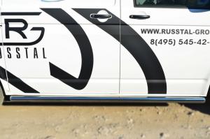 VOLKSWAGEN Multivan/Caravelle   2010- Пороги труба d63 (вариант 3) (правый) VTKT-0013983